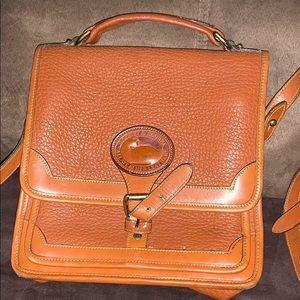 Vintage Dooney and Bourke tan satchel